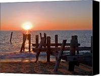 Pilings Canvas Prints - Cape May Sunset Canvas Print by Robert Pilkington