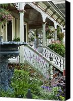 Garden Flowers Canvas Prints - Cape May Victorian Canvas Print by John Greim