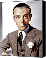 Carnation Canvas Prints - Carefree, Fred Astaire, 1938 Canvas Print by Everett