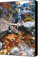New Hampshire Canvas Prints - Cascades of Color Canvas Print by George Oze