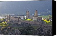 Middle Ages Photo Canvas Prints - Castel Grande - Bellinzona Canvas Print by Joana Kruse