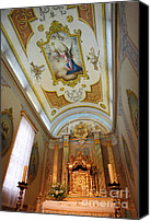 Sacral Canvas Prints - Catholic chapel Canvas Print by Gaspar Avila