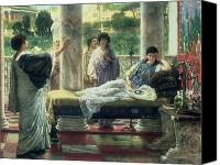 Alma-tadema; Sir Lawrence (1836-1912) Canvas Prints - Catullus Reading his Poems Canvas Print by Sir Lawrence Alma-Tadema