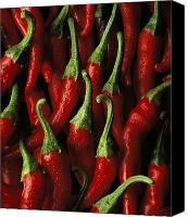 Peppers Canvas Prints - Cayenne Canvas Print by Daniel Troy