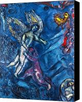 Faa Canvas Prints - Chagall - Jacob Wrestling Canvas Print by Granger