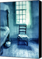 Humble Canvas Prints - Chair Under Window Canvas Print by Jill Battaglia