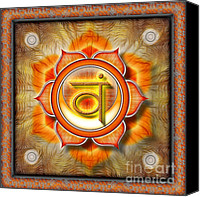 Sacral Canvas Prints - Chakra Swadhisthana Ed. 2010 Canvas Print by Dirk Czarnota