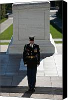 Dedication Canvas Prints - Changing Of Guard At Arlington National Canvas Print by Terry Moore