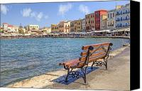 Venetian Canvas Prints - Chania - Crete Canvas Print by Joana Kruse