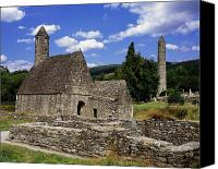 Monasticism Canvas Prints - Chapel Of Saint Kevin At Glendalough Canvas Print by The Irish Image Collection