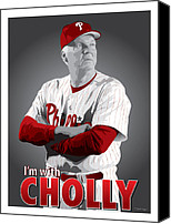All Star Digital Art Canvas Prints - Charlie Manuel Canvas Print by Scott Weigner