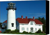 Cape Cod Canvas Prints - Chatham Lighthouse Canvas Print by Juergen Roth