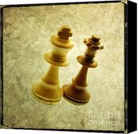 Chess Canvas Prints - Chess pieces Canvas Print by Bernard Jaubert