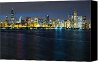 Sears Tower Canvas Prints - Chicago Skyline at Dusk Canvas Print by Twenty Two North Gallery