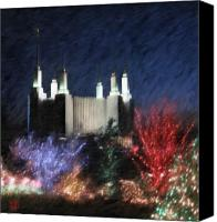 Washington Dc Canvas Prints - Christmas at the Temple Canvas Print by Geoffrey C Lewis