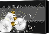 Backdrop Drawings Canvas Prints - Christmas background   Canvas Print by Chih-Chung Johnny Chang