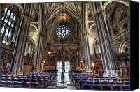 Door Digital Art Canvas Prints - Church of England Canvas Print by Adrian Evans