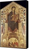 Byzantine Photo Canvas Prints - Cimabue: Madonna Canvas Print by Granger