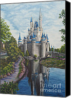 Disney Canvas Prints - Cinderella Castle  Canvas Print by Charlotte Blanchard