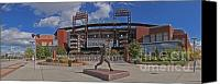 Philadelphia Phillies Stadium Photo Canvas Prints - Citizens Park Panoramic Canvas Print by Jack Paolini