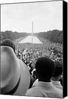 Washington Dc Canvas Prints - Civil Rights March On Washington D.c Canvas Print by Everett