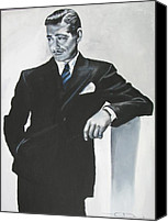 Gable Canvas Prints - Clark Gable Canvas Print by Eric Dee