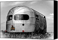Silver Canvas Prints - Classic Airstream caravan Canvas Print by Ian Hufton