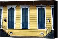 Duplex Canvas Prints - Classic French Quarter Residence New Orleans  Canvas Print by Shawn OBrien