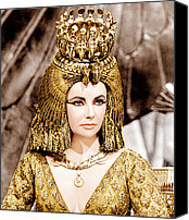 Elizabeth Taylor Canvas Prints - Cleopatra, Elizabeth Taylor, 1963 Canvas Print by Everett