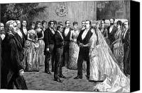 First Couple Canvas Prints - Cleveland Wedding, 1886 Canvas Print by Granger