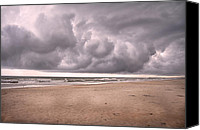 Topsail Island Canvas Prints - Coastal Storm Canvas Print by East Coast Barrier Islands Betsy A Cutler