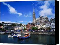 Corks Canvas Prints - Cobh Cathedral & Harbour, Co Cork Canvas Print by The Irish Image Collection 
