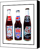 Susan Leggett Canvas Prints - Collectable Cola Bottles Canvas Print by Susan Leggett