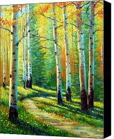 Yellow Trees Canvas Prints - Colors Of The Season Canvas Print by David G Paul