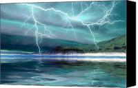 Frightening Digital Art Canvas Prints - Coming Storm Canvas Print by Corey Ford