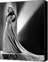 Gold Lame Canvas Prints - Constance Bennett, Circa 1930s Canvas Print by Everett