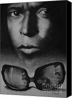 African American Art Drawings Canvas Prints - Cool Canvas Print by Adrian Pickett