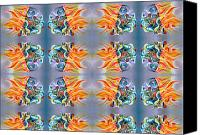 Pattern Tapestries - Textiles Canvas Prints - Cool Canvas Print by Ky Wilms