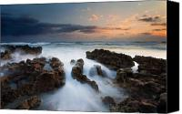 Sand Canvas Prints - Coral Cove Dawn Canvas Print by Mike  Dawson