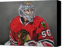 Mit Drawings Canvas Prints - Corey Crawford Canvas Print by Brian Schuster