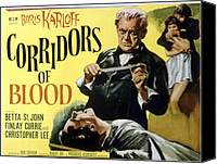 1950s Movies Canvas Prints - Corridors Of Blood, Boris Karloff, 1958 Canvas Print by Everett