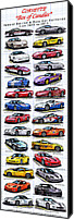 Special Edition Canvas Prints - Corvette Box of Candies - Special Edition and Indy 500 Pace Car Corvettes Canvas Print by K Scott Teeters