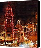 Kansas City Canvas Prints - Country Club Plaza Lights Kansas City Missouri Canvas Print by Joseph Ventura