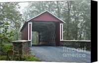 Ashland Canvas Prints - Covered Bridge Canvas Print by John Greim