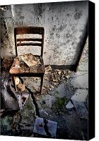 Abandoned Structures Canvas Prints - Cracked Canvas Print by Emily Stauring