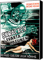 1950s Movies Canvas Prints - Creature From The Black Lagoon, Aka Canvas Print by Everett
