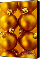 Glass Canvas Prints - Crhistmas Decorations Canvas Print by Carlos Caetano