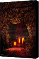 Foreboding Canvas Prints - Crooked House Canvas Print by Svetlana Sewell