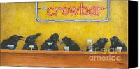 Crow Canvas Prints - Crowbar... Canvas Print by Will Bullas