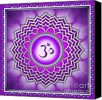 Chakra Canvas Prints - Crown Chakra Sahasrara Canvas Print by Dirk Czarnota